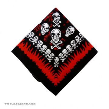 КЪРПА, 74 - SKULLS/RED FLAMES