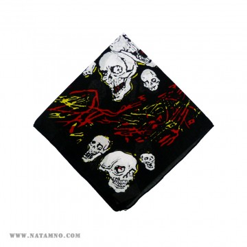КЪРПА, 66 - SKULL - RED/YELLOW