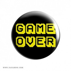 ЗНАЧКА ГОЛЯМА 21- GAME OVER 1